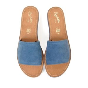 Seychelles suede blue sandals